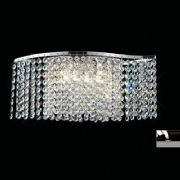 Fabio Wall Light in Polished Chrome and Crystal - DIYAS IL30571